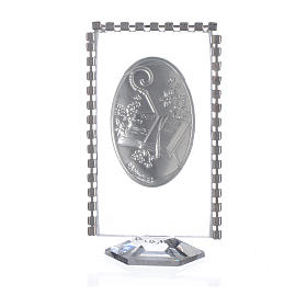 Cadre ovale Confirmation et strass 8x4,5 cm s2