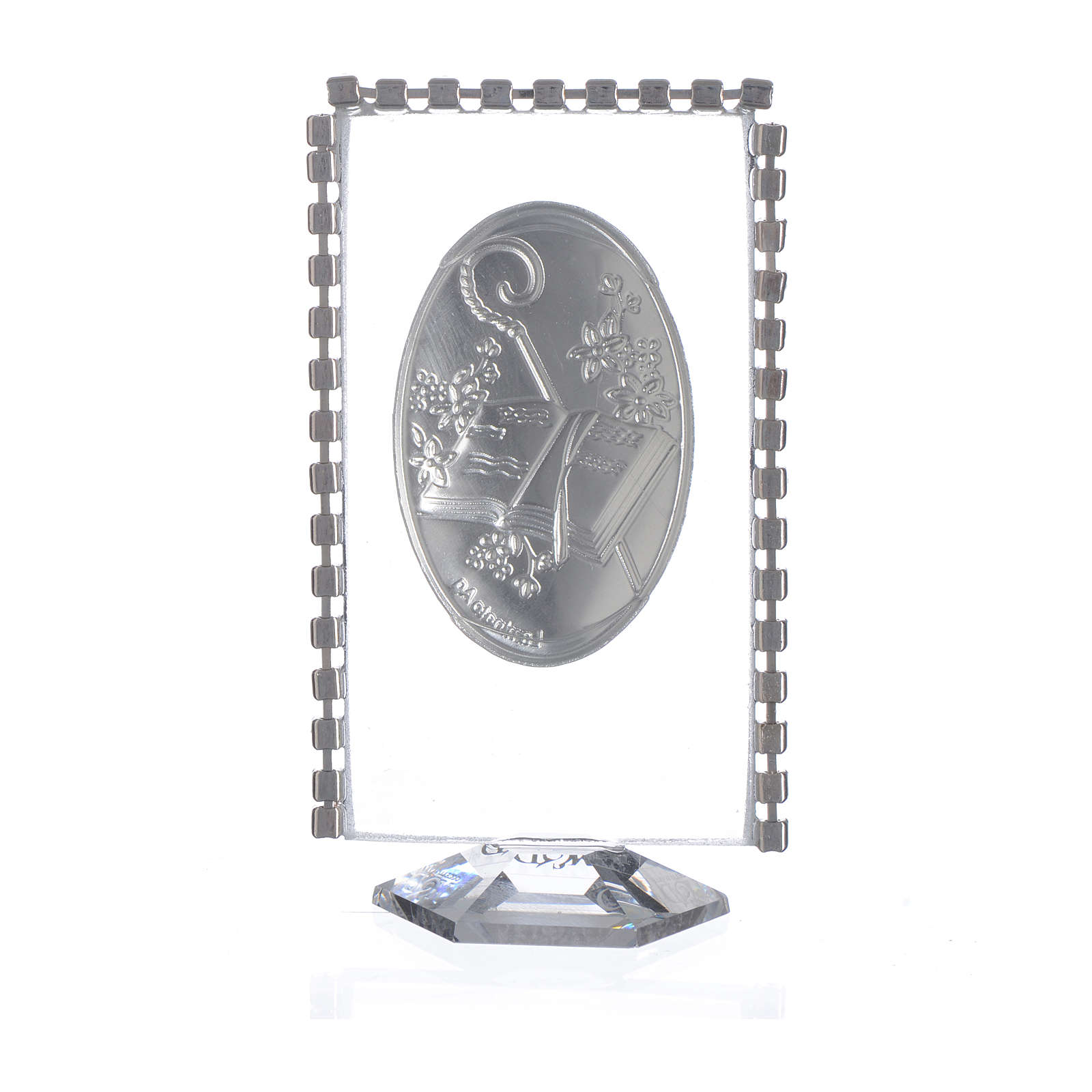 Confirmation favour, oval with rhinestones 8x4.5cm 3
