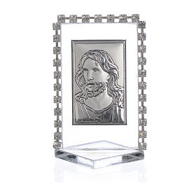 Picture with image of Christ, rhinestones 5.5x3.5cm s1