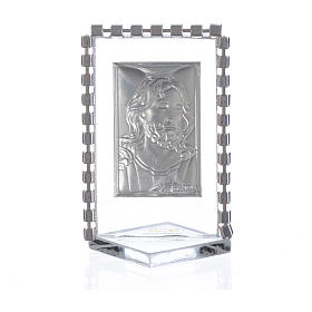Picture with image of Christ, rhinestones 5.5x3.5cm s2