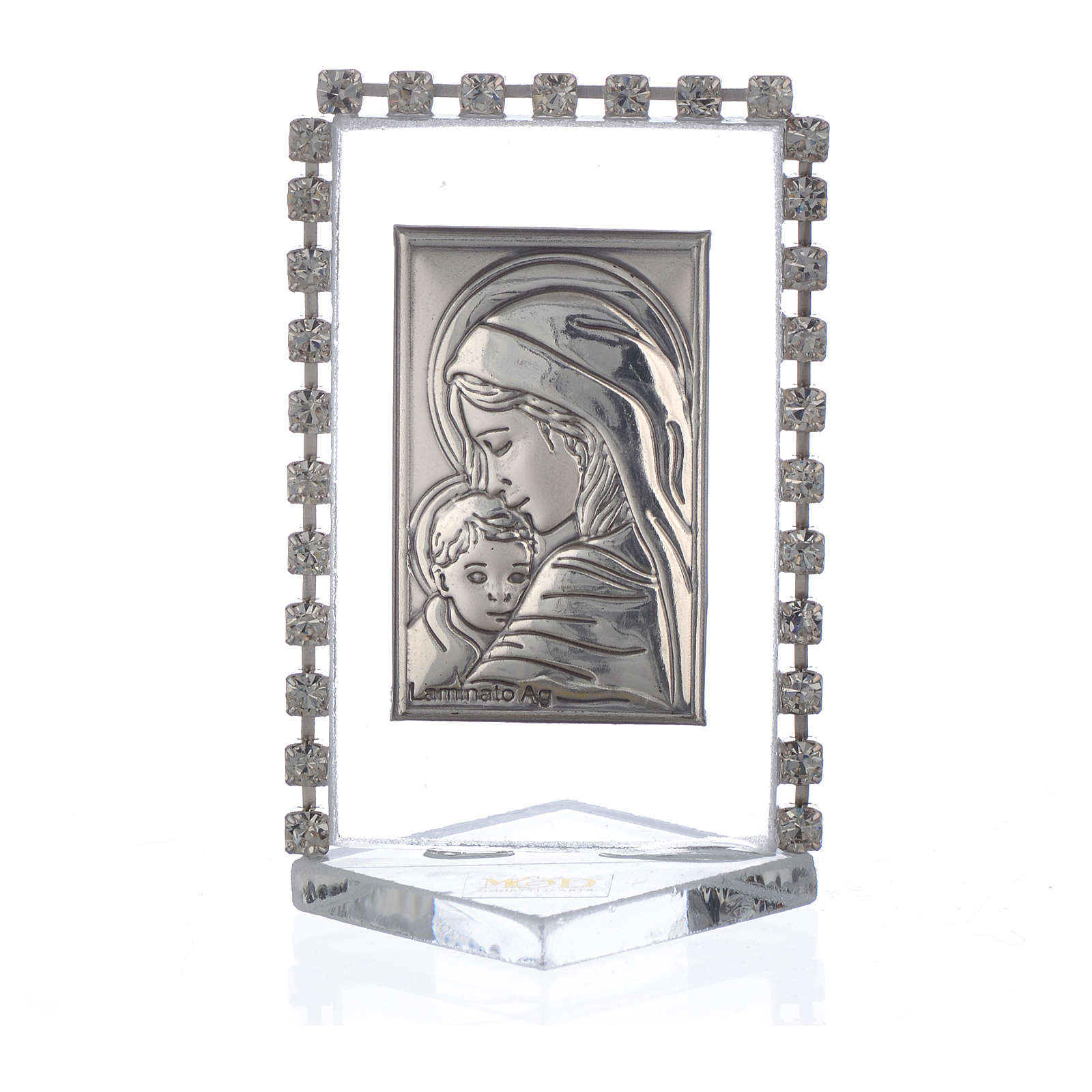 Cadre Maternité avec strass 5,5x3,5 cm 3