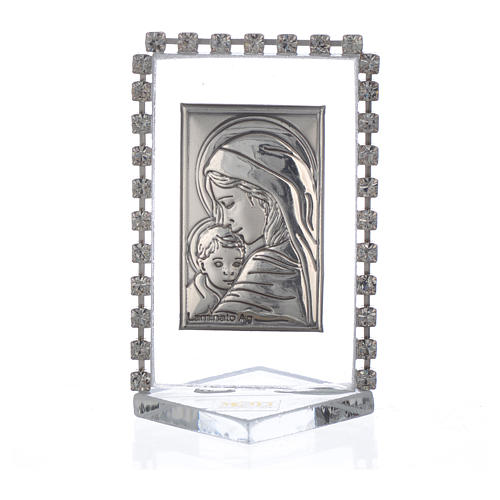Cadre Maternité avec strass 5,5x3,5 cm 1