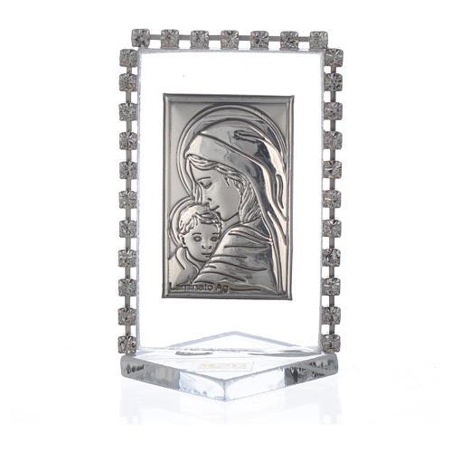 Bomboniera Nascita Quadretto Maternità con strass 5,5x 3,5 1