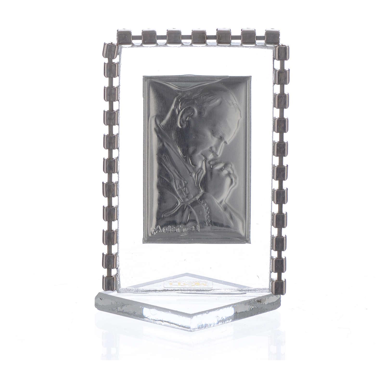 Cadre Pape Jean-Paul II strass 5,5x3,5 cm 3
