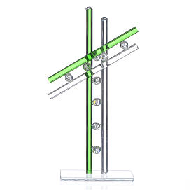 Religious Favors and Gift Ideas: 16 cm Green Cross in Murano Glass