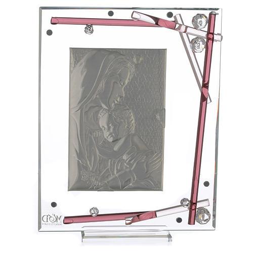 Souvenir Naissance cadre maternité violet 19x15 cm 2