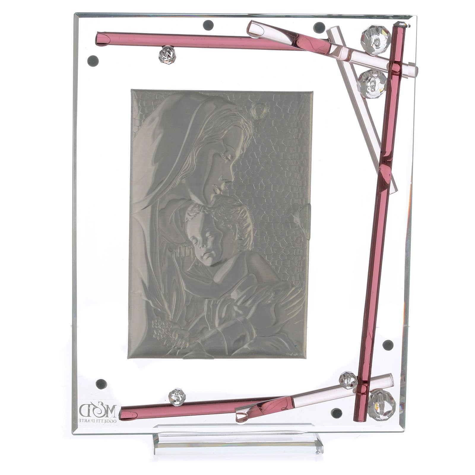 Ricordino Nascita Quadro Maternità Viola 19x15 cm 3