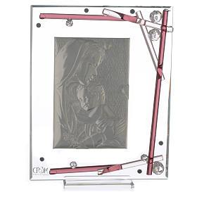 Ricordino Nascita Quadro Maternità Viola 19x15 cm s4