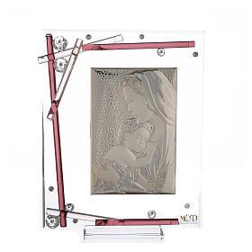 Ricordino Nascita Quadro Maternità Viola 19x15 cm s1