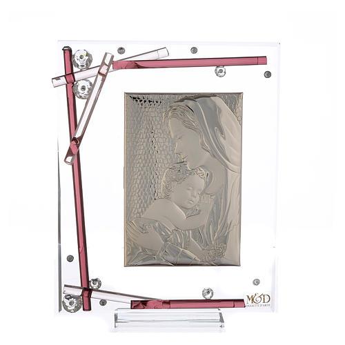 Ricordino Nascita Quadro Maternità Viola 19x15 cm 1