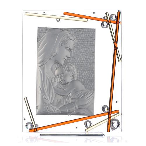 Ricordino Nascita Quadro Maternità Ambra 34x28 cm 3