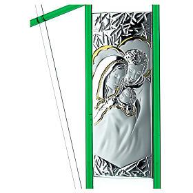 Ikona święta Rodzina szkło Murano zielone 24x15 cm s2