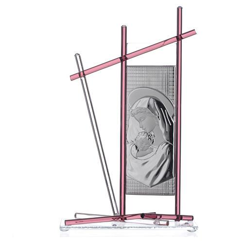 Icône Naissance verre Murano violet 24x15 cm 1