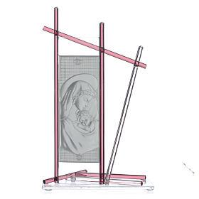 Icona Nascita vetro Murano Viola 24x15 cm s2