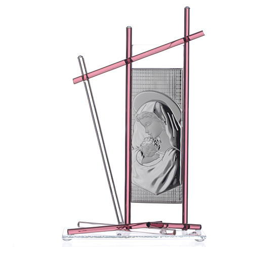 Icona Nascita vetro Murano Viola 24x15 cm 1