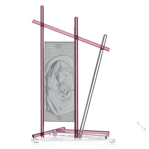 Icona Nascita vetro Murano Viola 24x15 cm 2