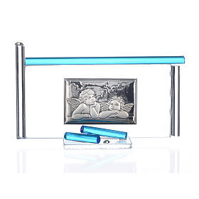 Icon Angels silver and Murano Glass, Aquamarine 13x8cm s1