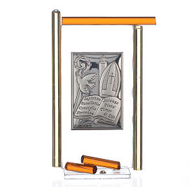 Icon Confirmation silver and Murano Glass, Amber 13x8cm s3