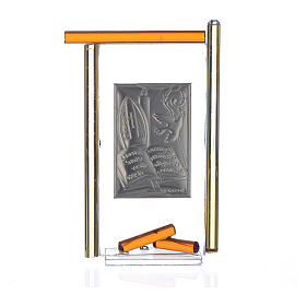 Icon Confirmation silver and Murano Glass, Amber 13x8cm s2