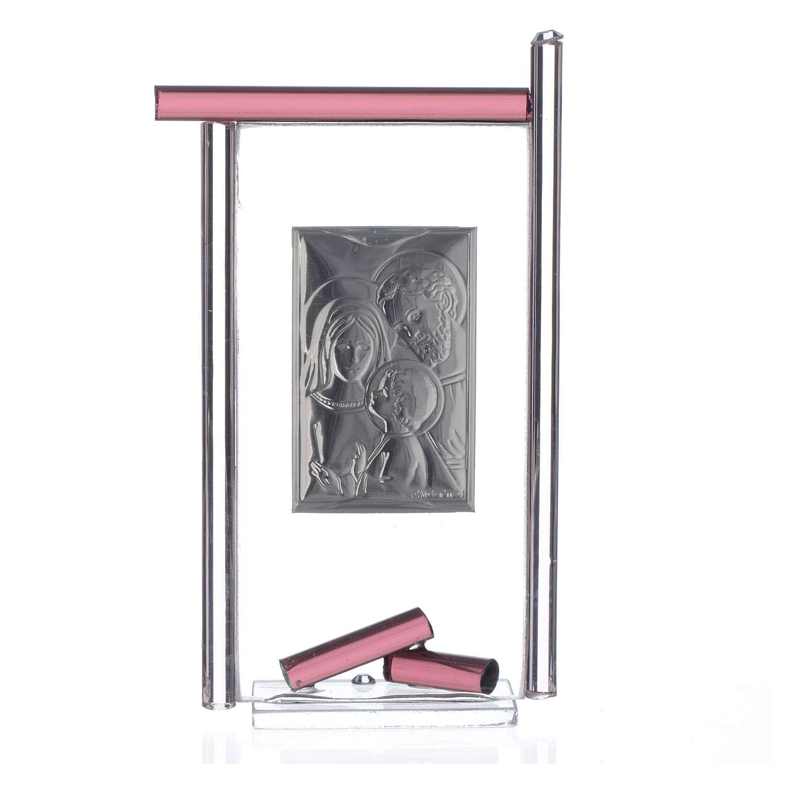 Regalo S.Familia plata Vidrio Murano Violeta 13x8 cm 3