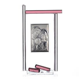Bonbonnière Ste Famille arg. verre Murano violet 13x8 cm s3