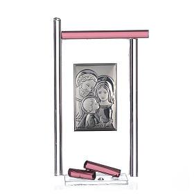 Bonbonnière Ste Famille arg. verre Murano violet 13x8 cm s1