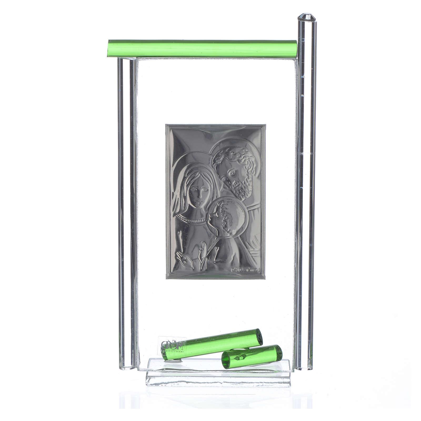 Regalo S.Familia plata vidrio Murano Verde 13x8 cm 3