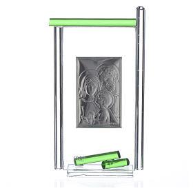 Regalo S.Familia plata vidrio Murano Verde 13x8 cm s4
