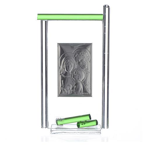 Regalo S.Familia plata vidrio Murano Verde 13x8 cm 2