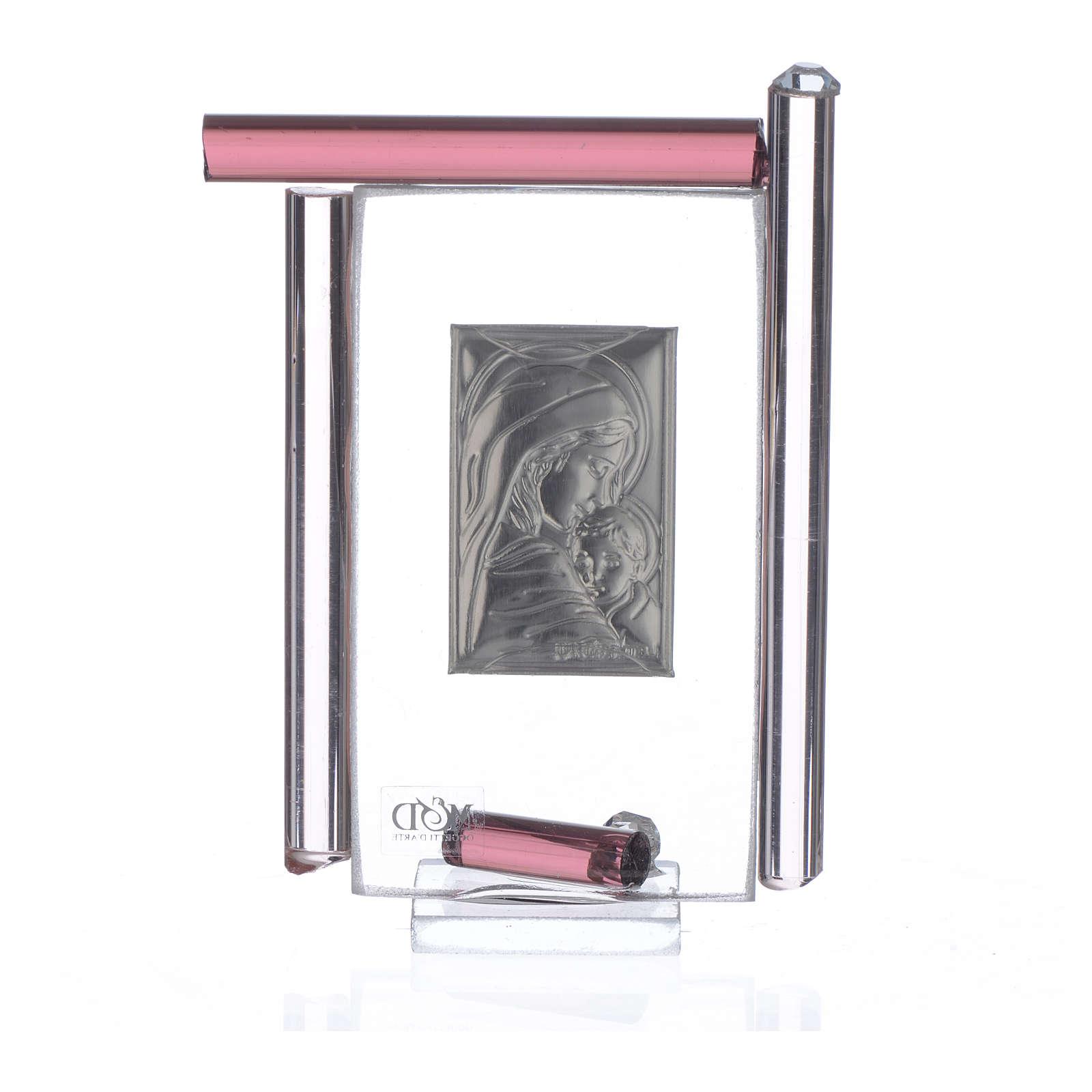 Cadre Maternité arg. et verre Murano  h 9 cm 3