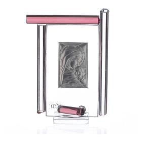 Cadre Maternité arg. et verre Murano  h 9 cm s4