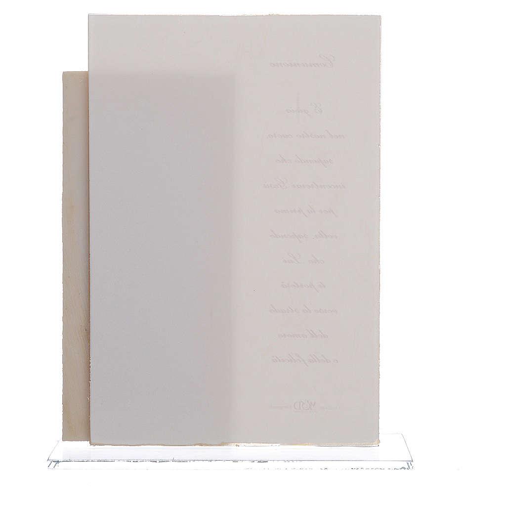 Quadretto Comunione Bimbo quadretto con stampa h. 17 cm 3