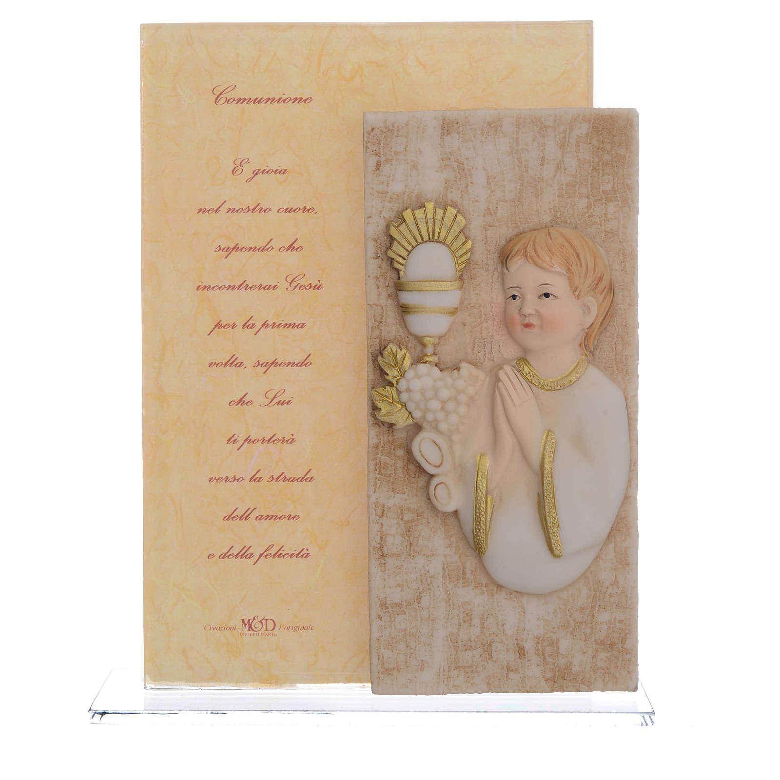 Little painting First Communion boy, 17cm 3