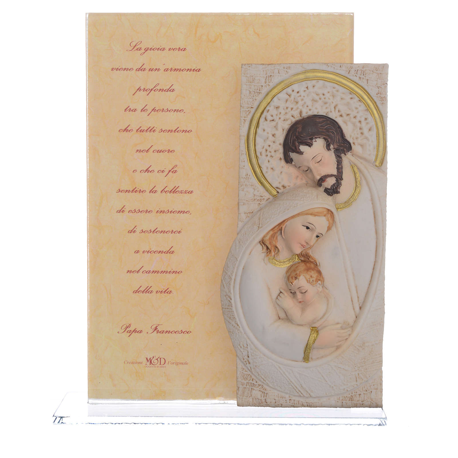 Idea Regalo Matrimonio S. Famiglia stampa Papa Francesco h. 17 cm 3