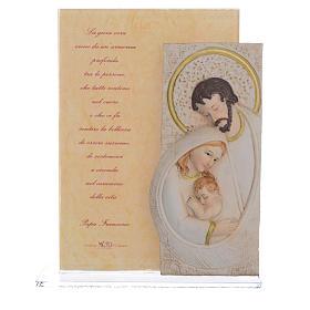 Idea Regalo Matrimonio S. Famiglia stampa Papa Francesco h. 17 cm s1