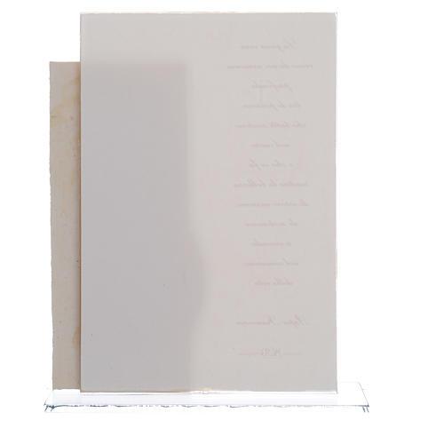 Idea Regalo Matrimonio S. Famiglia stampa Papa Francesco h. 17 cm 2