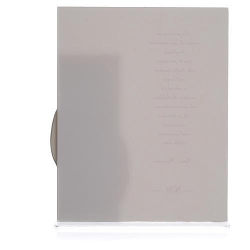 Quadro Matrimonio S. Famiglia stampa Papa Francesco h. 25,5 cm 2
