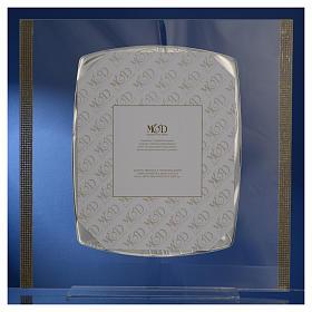 Quadro Cristo Argento e strass 32x32 cm s8