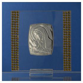 Bomboniera Nascita Argento e strass 7X7 cm s8