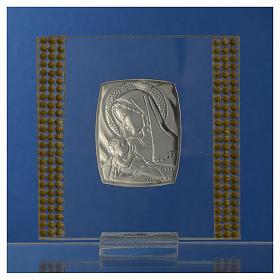 Bomboniera Nascita Argento e strass 7X7 cm s4