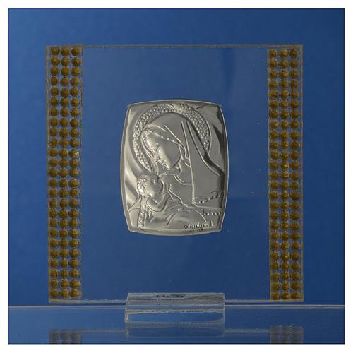 Bomboniera Nascita Argento e strass 7X7 cm 4