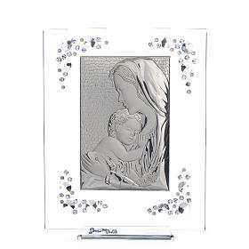 Cadre Maternité argent et Swarovski glycine s1