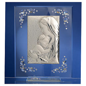 Cadre Maternité argent et Swarovski glycine s2