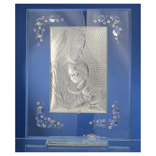 Cadre Maternité argent et Swarovski glycine 8