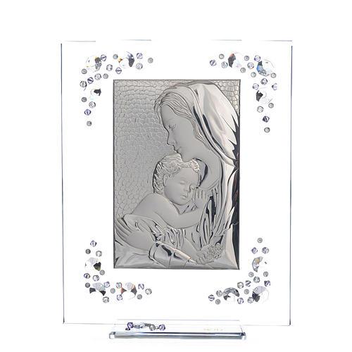 Cadre Maternité argent et Swarovski glycine 1