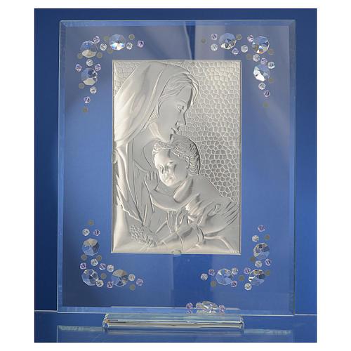 Cadre Maternité argent et Swarovski glycine 4