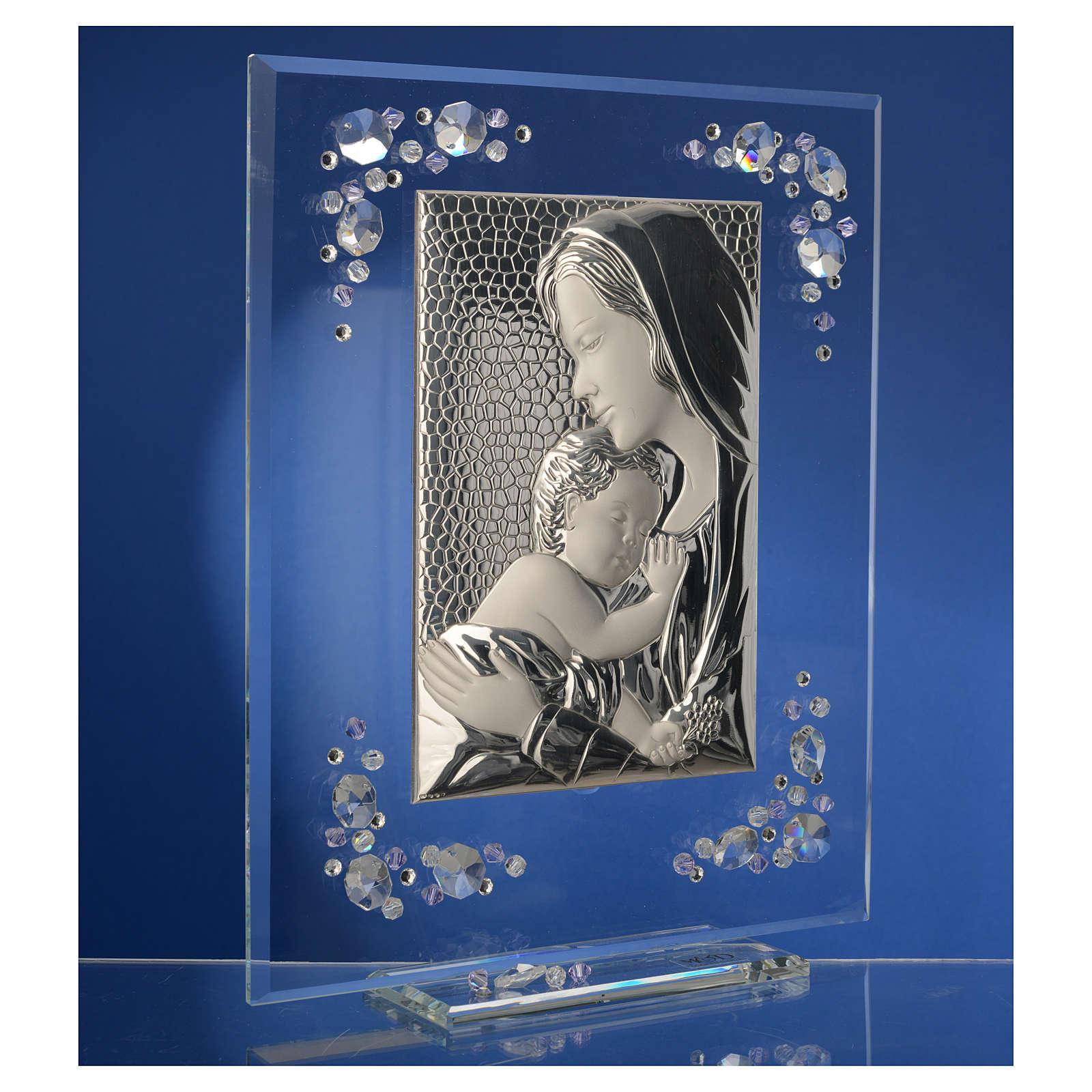 Quadro Maternità Argento Swarovski Glicine 3