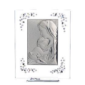 Quadro Maternità Argento Swarovski Glicine s1
