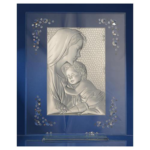 Cadre Maternité argent et Swarovski blanc 8