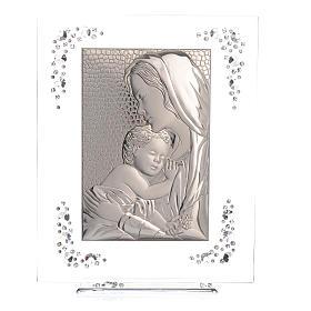Quadro Maternità Argento e Swarovski Bianco s5
